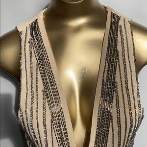 Sequins & beads vest